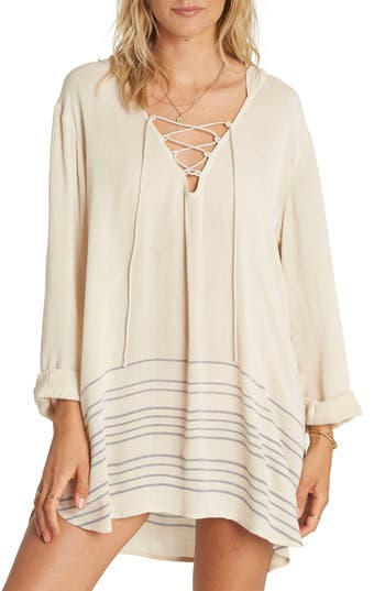 Women's Billabong Same Story Cover-Up Tunic, Size Small - White