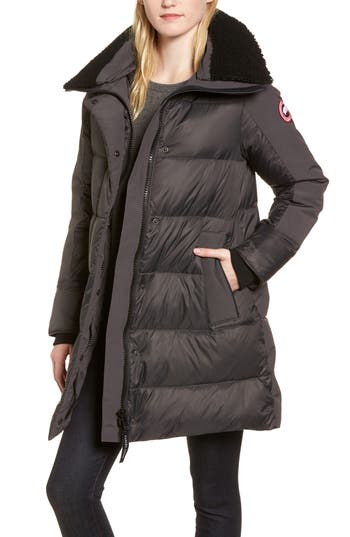 Canada Goose Altona Water Resistant 750-Fill Power Down Parka With Genuine Shearling Collar, (6-8) - Grey