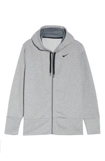 Plus Size Nike Dry-Fit Oversize Zip Hoodie, Grey