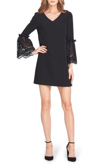 Tahari Bell Sleeve Shift Dress, Black