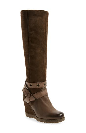 Miz Mooz Nina Wedge Boot, Brown