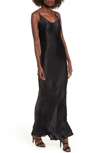 Obey Naomi Maxi Slipdress, Black
