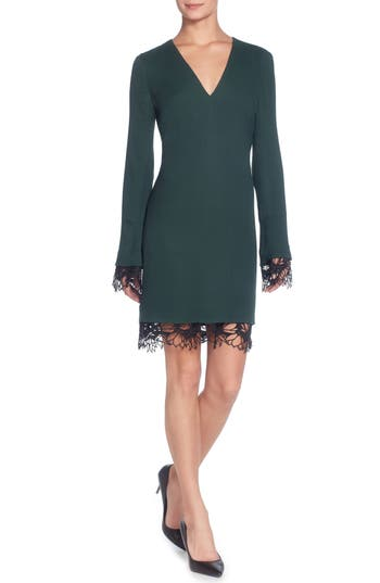 Catherine Catherine Malandrino Pernilla V-Neck Sheath Dress, Green