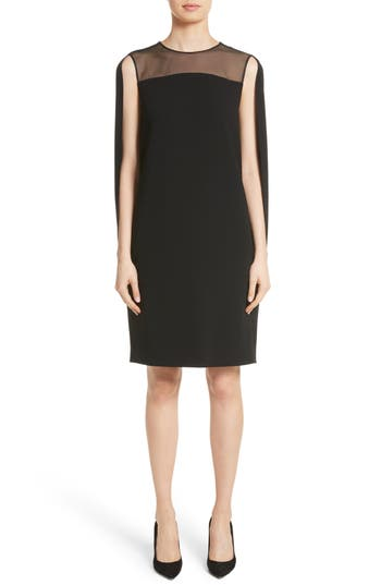 Max Mara Sospiro Cape Shift Dress, Black