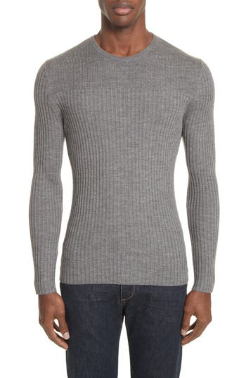 Atm Anthony Thomas Melillo Merino Wool Sweater, Grey