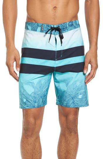 Hurley Phantom Blackball Lush Board Shorts, Blue/green