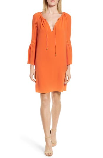 Michael Michael Kors Lace-Up Sleeve Dress, Orange