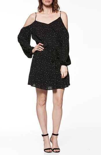 Paige Carmine Cold Shoulder Dress, Black
