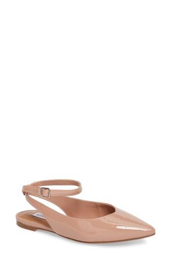 Steve Madden Cupid Ankle Strap Flat- Pink