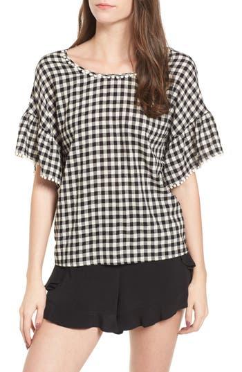Womens Moon River Twist Back Top Size XSmall  Black