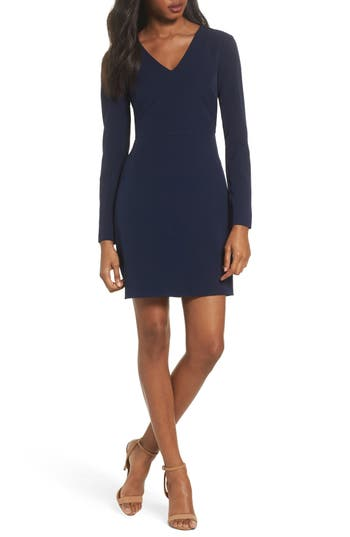 Charles Henry Sheath Dress, Blue
