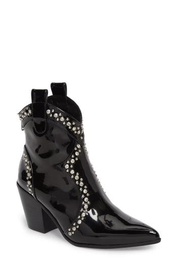 Jeffrey Campbell Nightwing Crystal Stud Bootie- Black