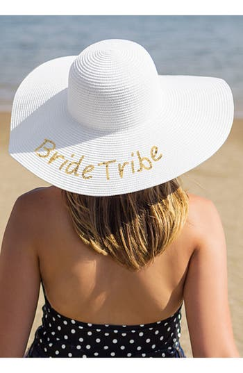 Women's Cathy's Concepts Sequin Bride Tribe Straw Hat - Metallic