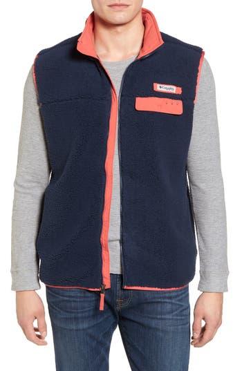 Men's Columbia Sportswear Harborside Heavyweight Fleece Vest, Size Small - Blue