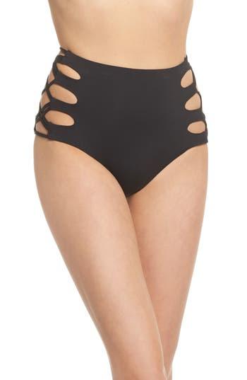 Isabella Rose Paradise High Waist Bikini Bottoms, Black