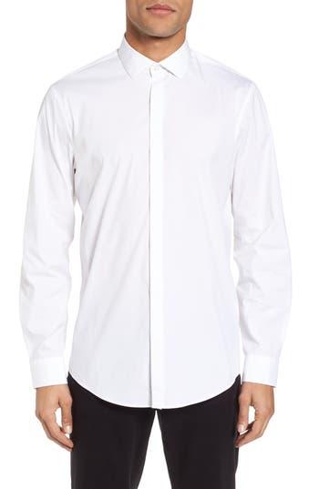 Calibrate Trim Fit Stretch Sport Shirt, White