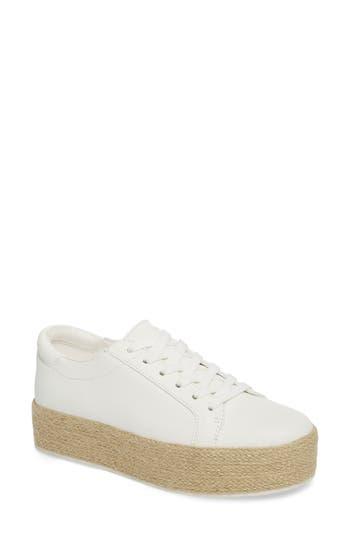Kenneth Cole New York Allyson Espadrille Platform Sneaker, White
