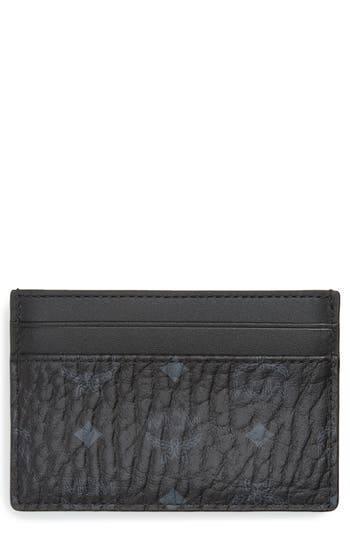 MCM Logo Leather Card Case