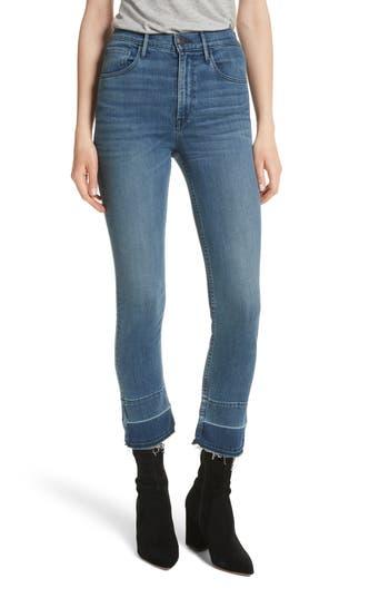 3x1 nyc female womens 3x1 nyc w4 abigail released split hem ankle skinny jeans size 24 blue