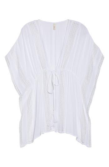 Women's Elan Crochet Cover-Up Tunic, Size Small - White