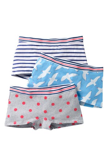 Girls Mini Boden 3Pack Shorties Underwear