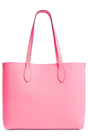 Burberry Large Remington Logo Leather Tote - Pink at NORDSTROM.com
