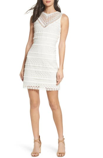 Sam Edelman Lace Sheath Dress, Ivory