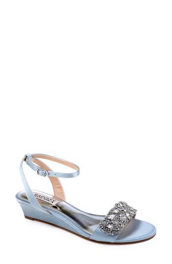 Badgley Mischka Hatch Crystal Embellished Sandal- Blue