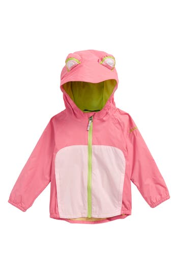 Infant Girls Columbia Kitteribbit Water Resistant Windbreaker