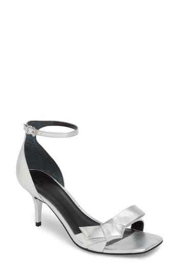 Marc Fisher Ltd Tierra Ankle Strap Sandal- Metallic