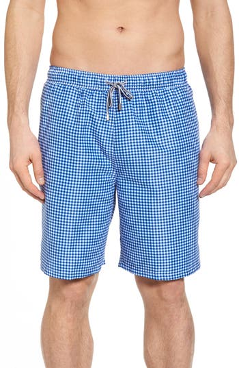 Peter Millar Gingham Style Swim Trunks