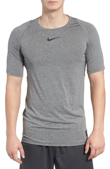 Big & Tall Nike Pro Fitted T-Shirt - Grey