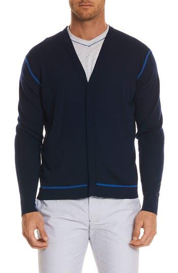 Robert Graham Hugo Merino Wool Cardigan, Blue