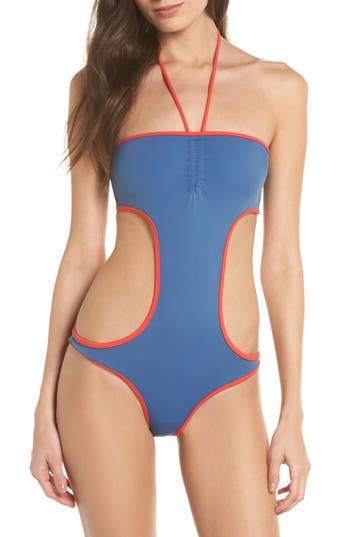 Solid & Striped The Carolyn Cutout One-Piece Swimsuit, Blue