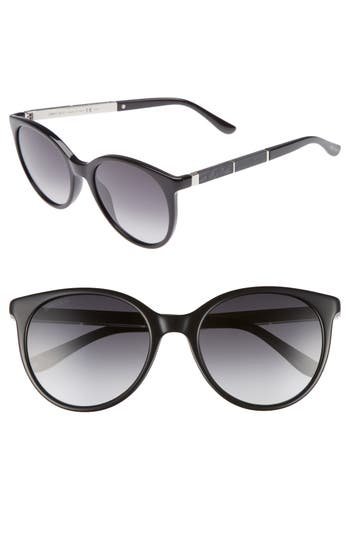 Jimmy Choo Erie 5m Gradient Round Sunglasses - Black