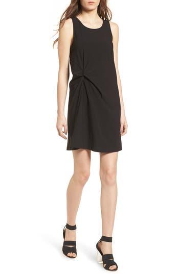Leith Twist Front Minidress, Black