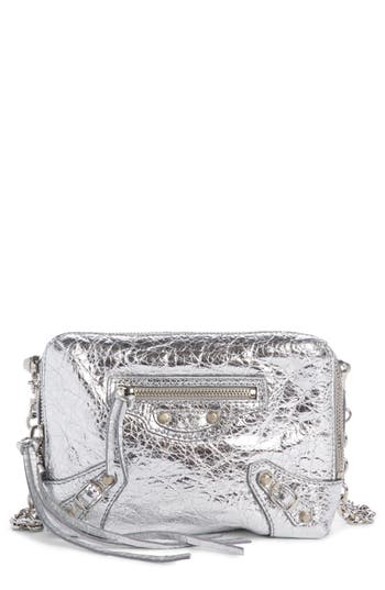 Balenciaga Extra Small Classic Reporter Leather Crossbody Bag - Metallic