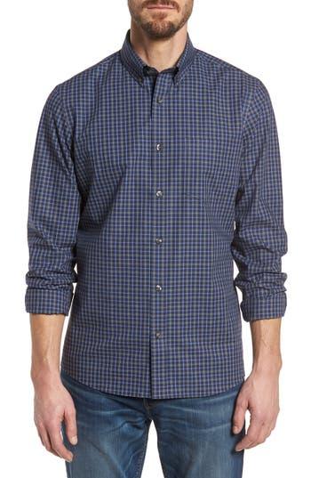 Nordstrom Shop Trim Fit Check Sport Shirt, Blue