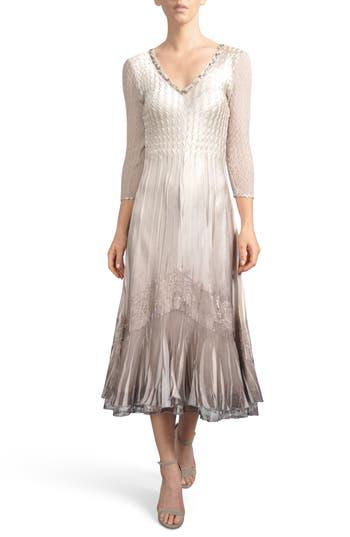 Komarov Beaded A-Line Dress