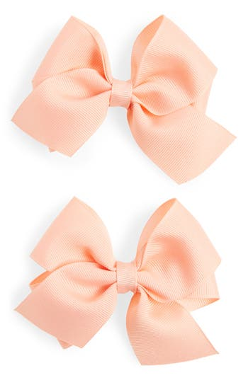 Plh Bows & Laces Bow Clips, Size One Size - Coral