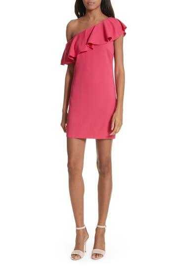 Joie Bronwen Ruffled One-Shoulder Dress, Pink