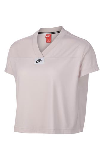 Nike Sportswear Short Sleeve Crop Tee, Pink