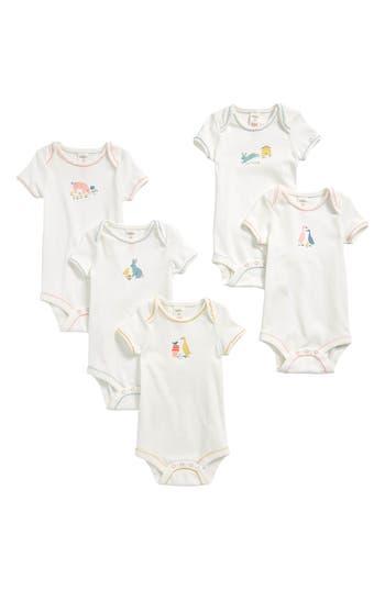 Toddler Girls Mini Boden 5Pack Farmyard Bodysuits