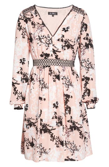 Sam Edelman Print Babydoll Dress, Pink