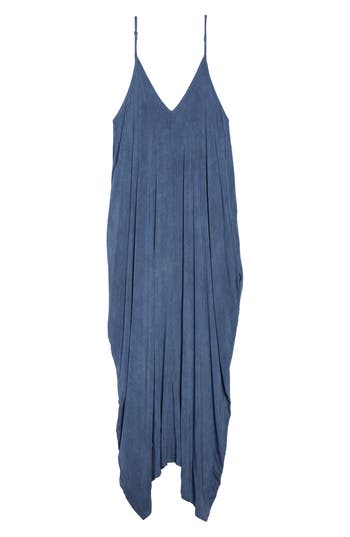 Plus Size Elan Cover-Up Maxi Dress, Blue