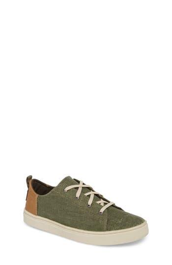 Boys Toms Lenny Sneaker Size 4 M  Green