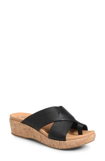 Kork-Ease Baja Wedge Slide Sandal, Black