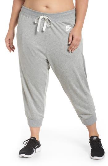 Plus Size Nike Sportswear Gym Capris, Grey