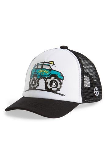 Toddler Grom Squad Surfari Trucker Hat - Black