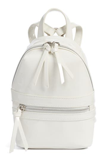 Bp. Faux Patent Leather Mini Backpack - White